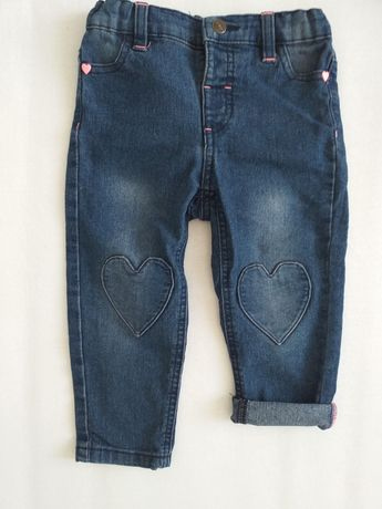 Spodnie jeans 92