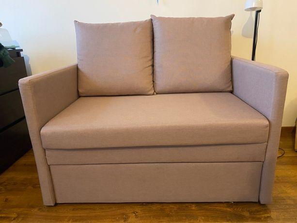 Mała, 2-osobowa, rozkładana sofa z Black Red White z pojemnikiem