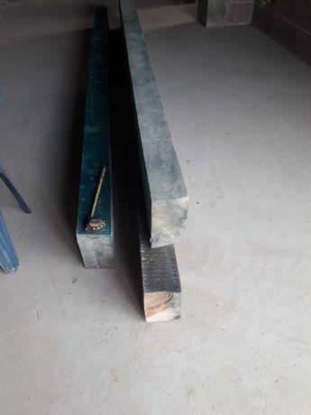 Slupy drewniane więźba dachowa