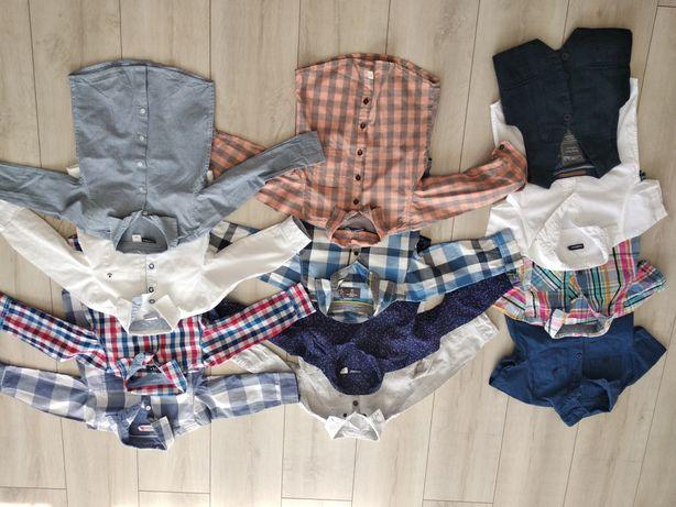Zestaw 11 koszul (+ kamizelka), rozmiar 92-98