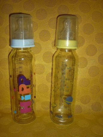 Стеклянные бутылочки для кормления NUK и HIPP
