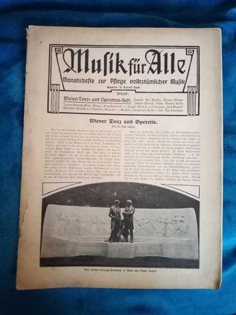 Musik für Alle Wiener Tanz und Operetten Heft 1895 r.