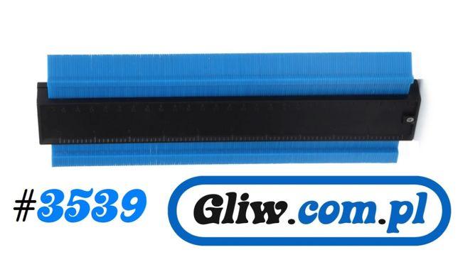 #3539 Wzornik, szablon, przymiar odwzorowania kształtów 25 cm