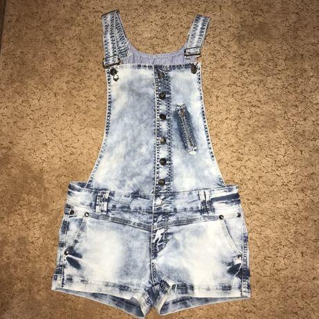 Комбинезон шорты джинсовый женский