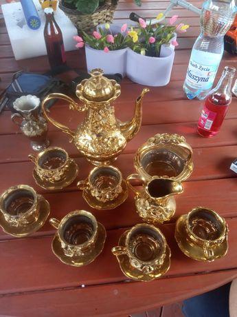 Serwis kawowy złoty 6 osobowy
