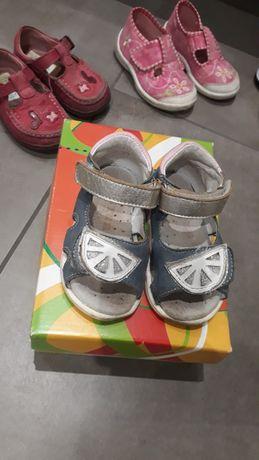 Sandałki dziewczece gratis kapcie mido noster 21 sandały 13 cm