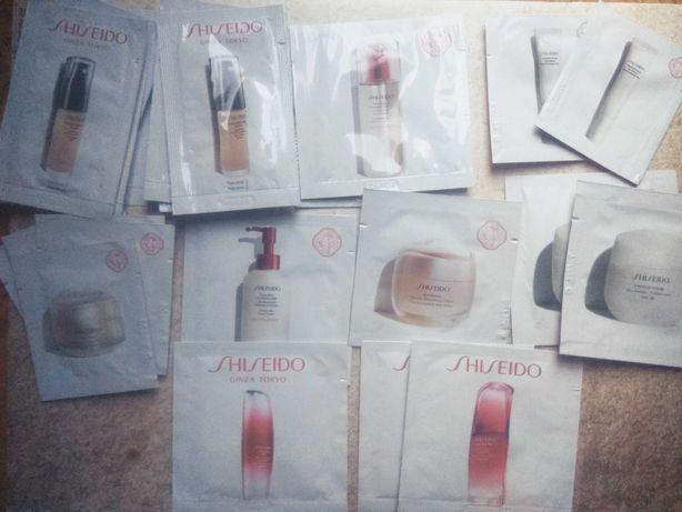 Shiseido, Clarins, Sensai, Guerlain - próbki nowe, nieużywane