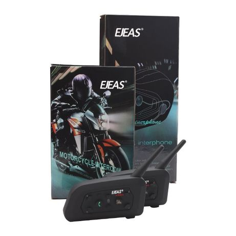 Мотогарнитура Bluetooth Ejeas V6 PRO 1200 м. рации для шлема 2 шт.