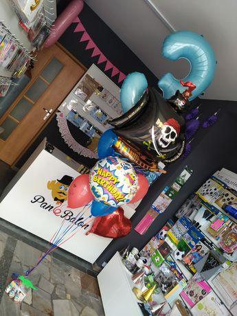 Balony z helem oraz dekoracje urodzinowe