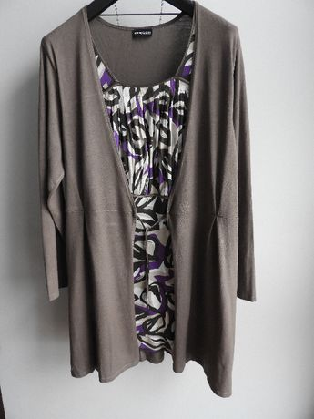 NOWA firma Samoon Gerry Weber tunika bluzka super delikatna 48/50/52