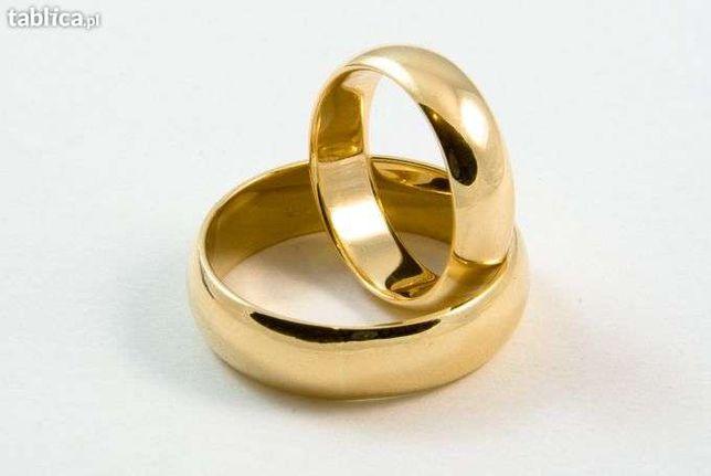 Złote obrączki próby 585 wzór klasyczny 160 za gram wszystkie rozmiary
