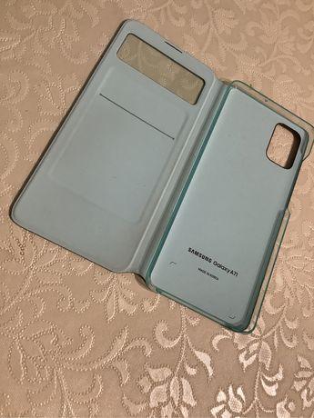 Oryginalny NOWY Pokrowiec Samsung Galaxy A71 Granatowy