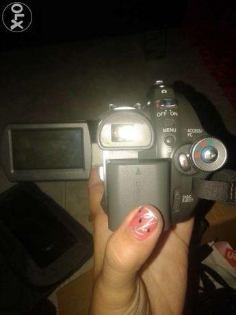 Câmara de filmar e tirar fotos com cartão de memória e vários cds