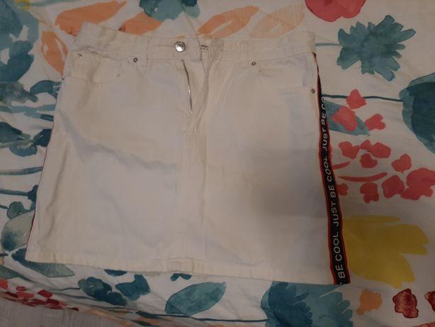 Spódnica biała stradivarius