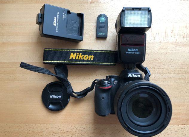 Nikon D5200 + kit 18-105 F3,5-5,6 AF DX SWM VR + Nikon SB-600