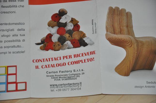 Włoskie krzesło kartonowe