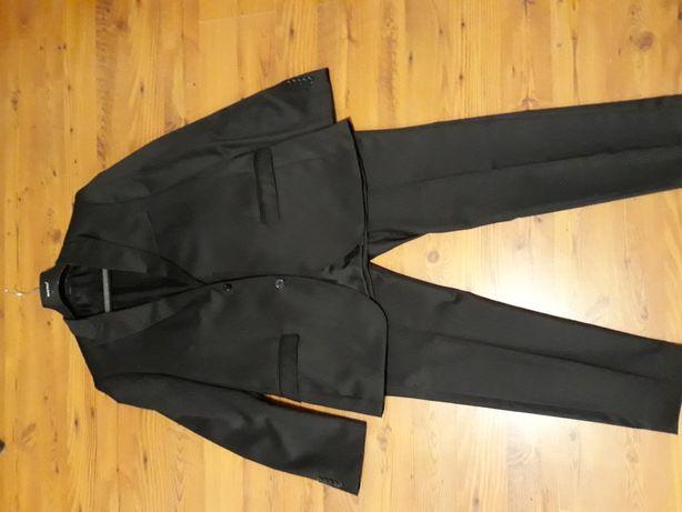 czarny garnitur ślub PAWO r. 54/182 108/182 SLIM Koszula GRATIS