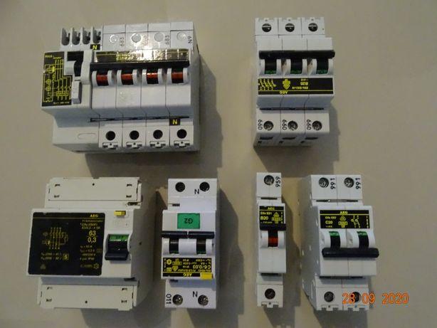 Wyłącznik nadprądowy AEG różne rodzaje, C6,C3, C50, b20,b25,1p,2p. 3p.