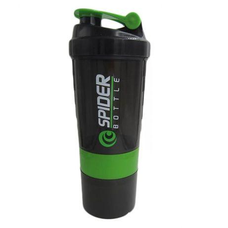 Shaker do białka 3w1 czarno zielony