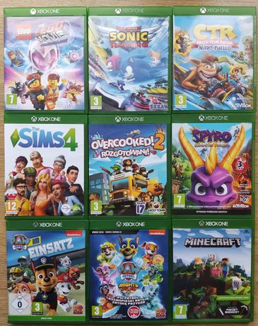 Gry Xbox one Psi patrol Minecraft LEGO Sims Overcooked Sonic CTR