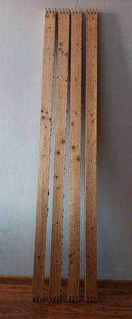 4 deski sosnowe z odzysku na siedzisko ławki, pergoli
