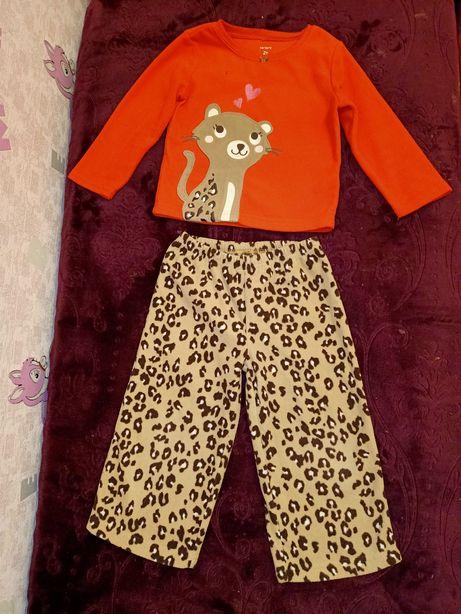 Пижама флис, домашний костюм флисовый Carter's