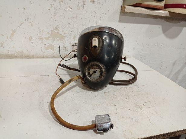 Lampa SHL M 11 Wiatr lampa przednia przód z licznikiem i szkłem