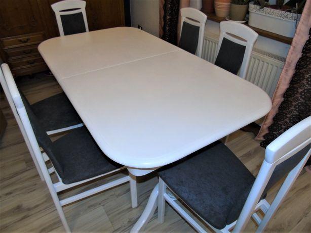 Stoł dębowy + 6 krzeseł