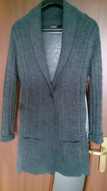 Sweter długi rozpinany roz L