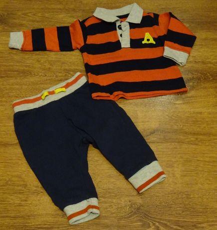 Ciuszki dla chłopca, rozmiar 68 - dres, komplet, bluzka plus spodnie
