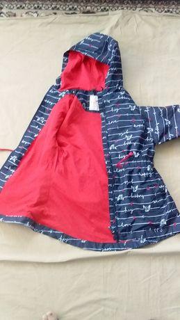 Куртка- ветровка для девочки на флисе-новая-kids by tchibo -12-13лет