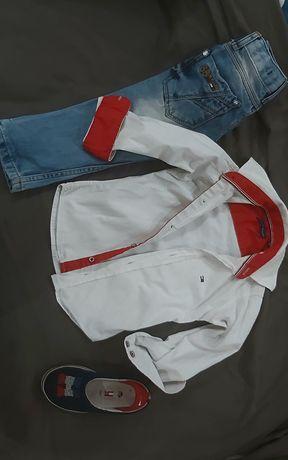 Spodnie koszula Tommy hilfiger 98/104