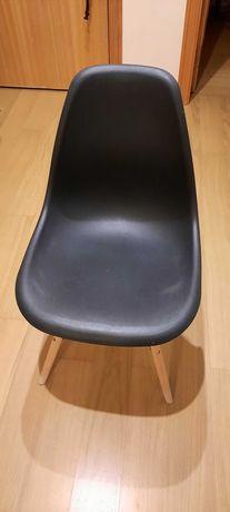 Pack 4 cadeiras pretas nordic jantar cozinha sklum