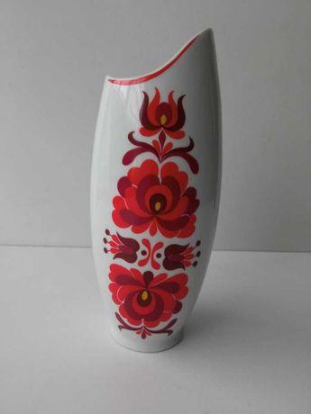 Wazon porcelana Węgry PRL Hollohaza