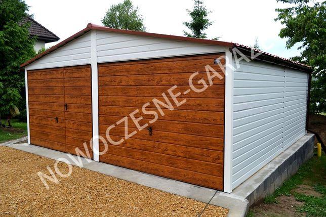 Garaże blaszane , hale , wiaty , Garaż, garaż drewnopodobny, bramy