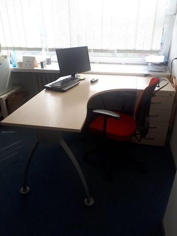 Komplet meble biurowe Biurko + Pomocnik + Krzesło