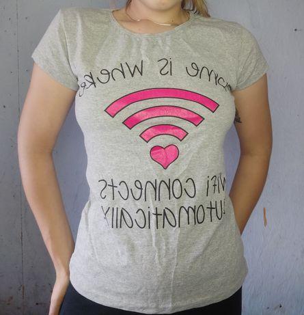 Новая футболка серым цветом