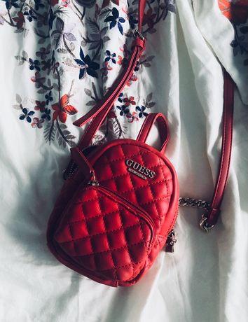 Guess torebka w ksztalcie plecaczka Mini Evan oryginalna czerwona