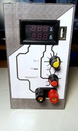 Лабораторный блок питания 0-24В 0-16А + USB в подарок!