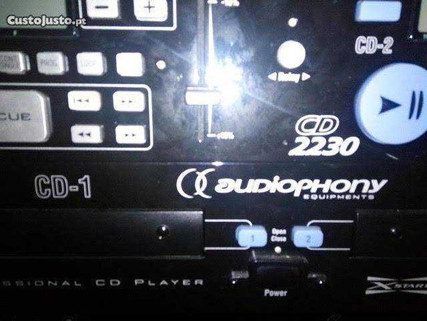 Leitor Duplo de cd Audiophony CD2230