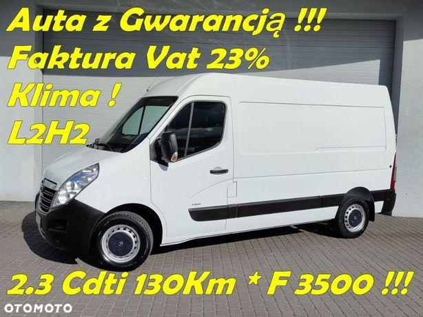 Opel Movano  Movano*Średni*L2H2*2.3Cdti 130Km*F 3500*Klima*Pdc*FVat23%*Gwarancja