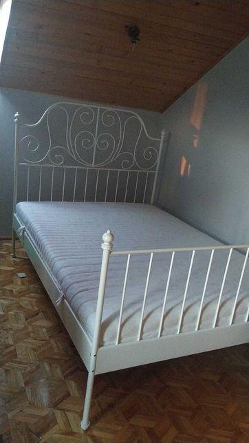 Łóżko IKEA białe metalowe