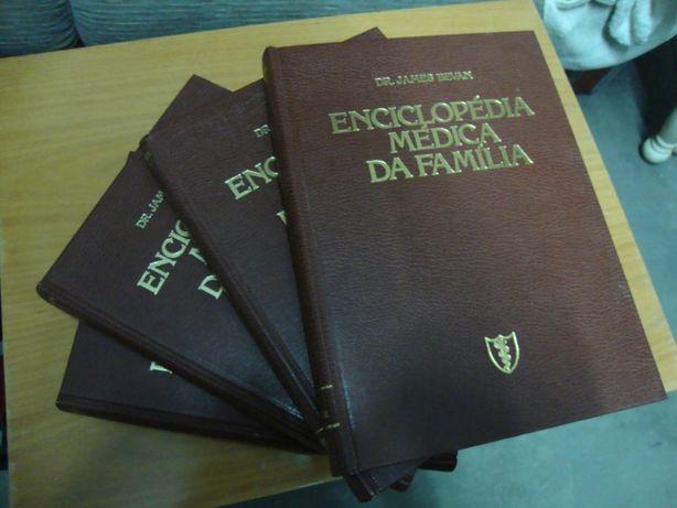 Lote de livros enciclopédia médica da Família