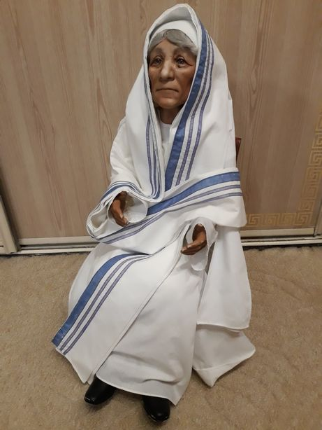 Коллекционная винтажная фарфоровая кукла Мать Тереза Kelly RuBert