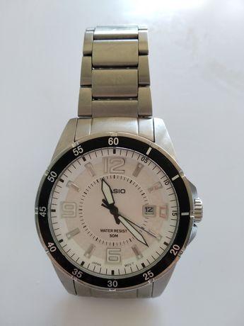 Zegarek Casio MTP-1291 srebrna metalowa bransoleta męski