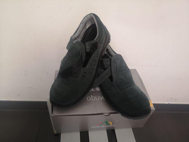 Nowe buty robocze z blachami ochronnymi na palce rozm 42