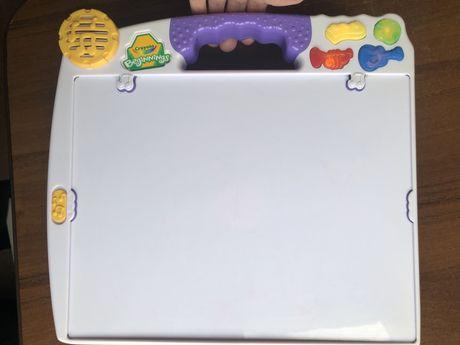 Планшет досточка для рисования музыкальная магнитная crayola