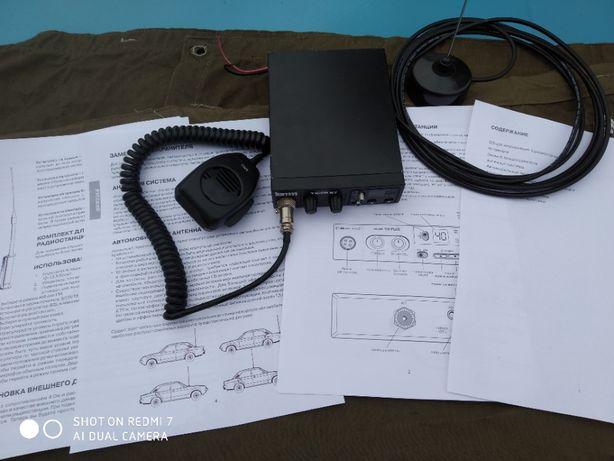 Рация радиостанция CB 27 мгц для дальнобойщиков + НОВАЯ Антенна