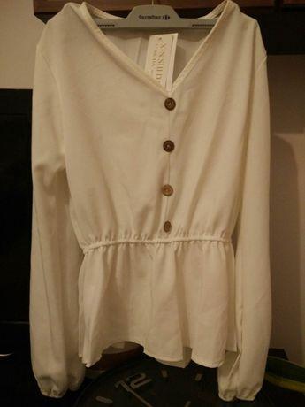 Biała bluzka S butik NOWA