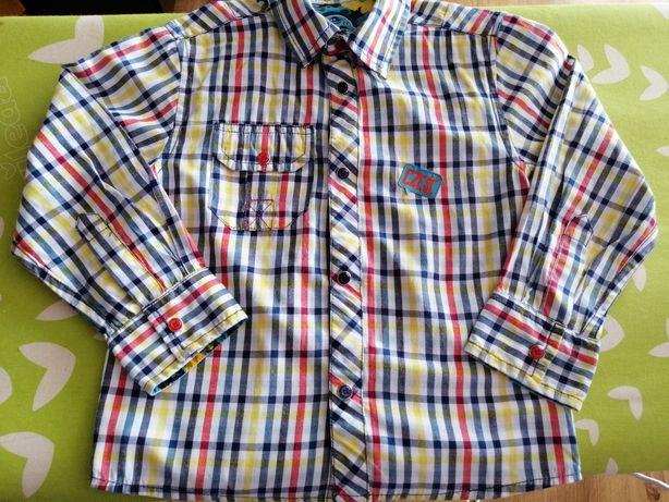 Koszula z długim rękawem w kratę 5 10 15 rozmiar 104